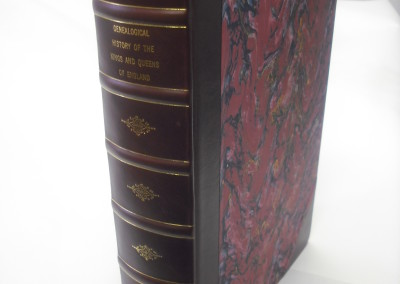 3/4 Leather Binding with French Marble sides and Raised Bands