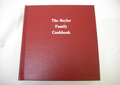 Custom Family Cookbook